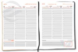Miolo semanal horizontal - Agenda Personalizada