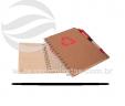 Bloco de anotações reciclado com caneta VRB1489-rec