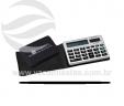 Calculadora com tampa de couro pequena VRB3319