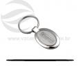 Chaveiro de metal oval VRB1377