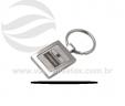 Chaveiro de metal quadrado VRB1378