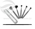 Kit pincéis de maquiagem em alumínio VRB1254t