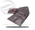 Kit manicure com 10 peças carteira VRB153mg