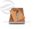 Tábua de bambu com garfo e faca VRB1277eco