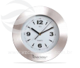 Relógio de parede redondo de aço escovado VRB100
