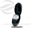 Relógio de pulso aço escovado pulseira emborrachada VRB1558