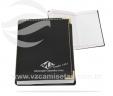 Bloco de anotações com capa em couro sintético VRB1491