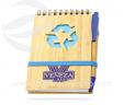 Bloco de anotações reciclado com caneta VRB1492rec