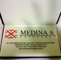 VZ produz agendas de bolso personalizadas para MEDINA & ADVOGADOS e recebe elogios