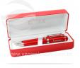 Estojo com caneta e lapiseira vermelho VRB6047