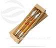 Estojo reciclado com caneta e lapiseira de bambu VRB6065