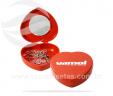 Porta jóias plástico com espelho em formato de coração VRB4837
