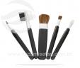 Kit pincéis de maquiagem 5 peças preto VRB5001