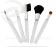 Kit pincéis de maquiagem 5 peças branco VRB5003