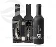 Kit vinho com 3 peças em formato de garrafa VRB9915G